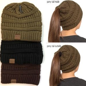 30% OFF 2/MORE Ponytail Top Beanie Knit Hat